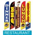 Restaurant, food swooper flags