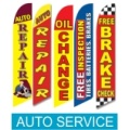 Auto Service swooper flags
