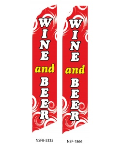 wine and beer swooper flag