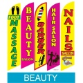 Beauty related swooper flags