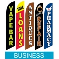Business promotion swooper flag