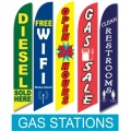Gas Station swooper flags