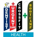 Health related swooper flags