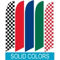 Solid and checkered swooper flags