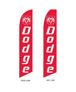 Dodge dealer swooper flag