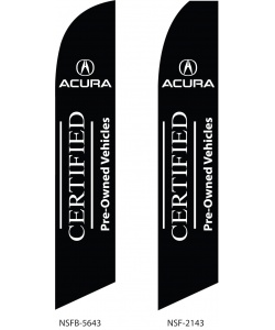 Certified Pre-owned Acura swooper flag