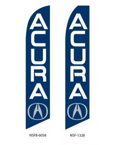 Acura dealership swooper flag