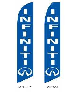 Infiniti dealer swooper flag