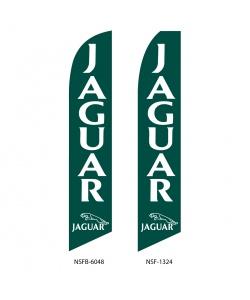 Jaguar auto dealer swooper flag