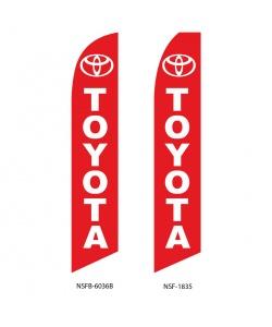 Toyota dealer swooper flag