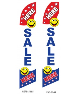 SALE HERE business sign flag