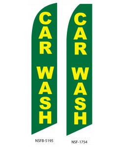 Green car wash swooper flag