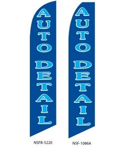 Blue auto detailing swooper flag