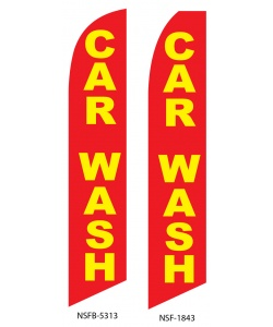 Red car wash swooper flag