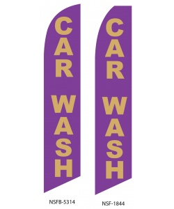 Purple car wash swooper flag