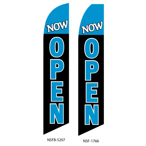 Now Open Outdoor Business Promotion Swooper Flag Vertical
