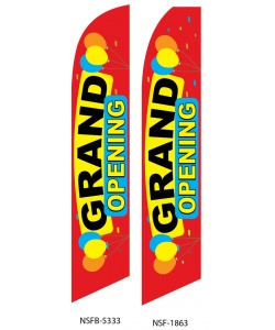 Grand opening business swooper flag