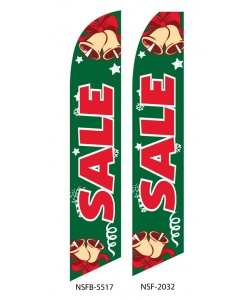 Holiday sale business flag
