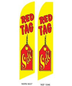 RED TAG SALE swooper flag
