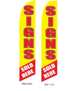 Signs sold here swooper fag banner
