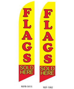 Flags sold here swooper feather flag