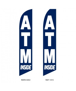 ATM money swooper feather flag sign banner