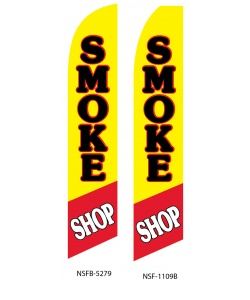 Smoke shop swooper flag banner