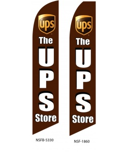 The UPS store swooper flag banner