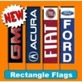 Rectangle vertical banner flags