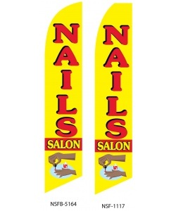 nail salon swooper feather flag banner