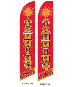 Tanning salon swooper flag banner