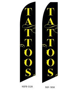 Tattoo swooper flag banner