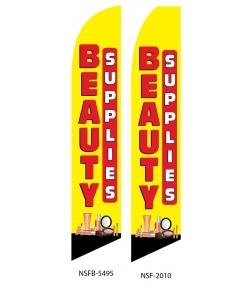 Beauty Supplies swooper flag