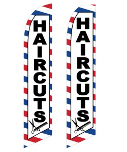 Hair Cuts swooper flag banner