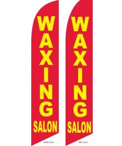 Waxing salon swooper flag banner